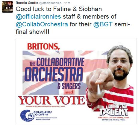 Ronnie Scott's wants you to VOTE!